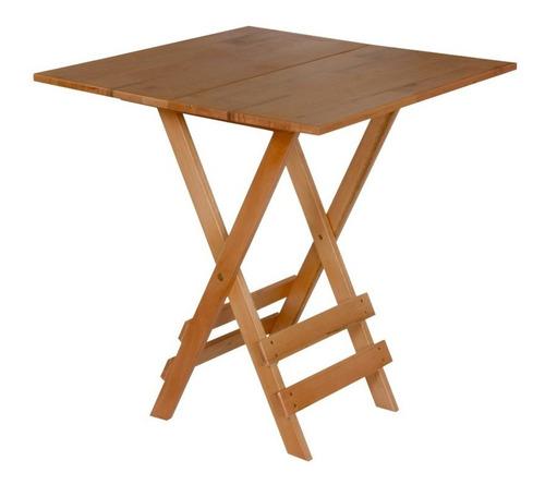 Conjunto 4 Cadeiras E 1 Mesa Dobrável - Madeira De Eucalipto