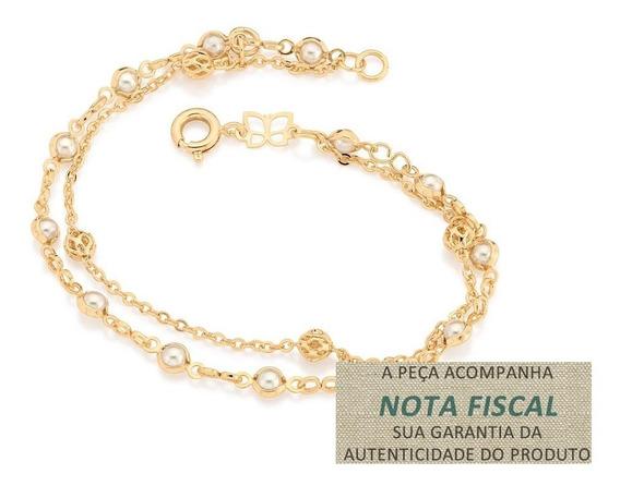 Pulseira Infantil 2 Fios Diferentes F/ Ouro Rommanel 550925