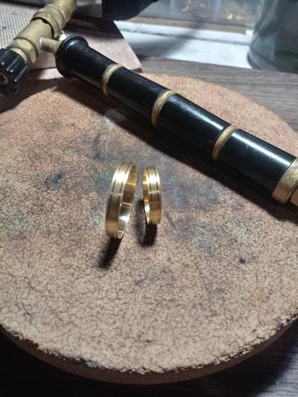 Aliança De Ouro 4mm
