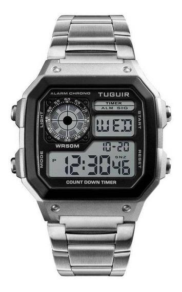 Relógio Masculino Digital Aprova Dágua Tuguir 1335 Original