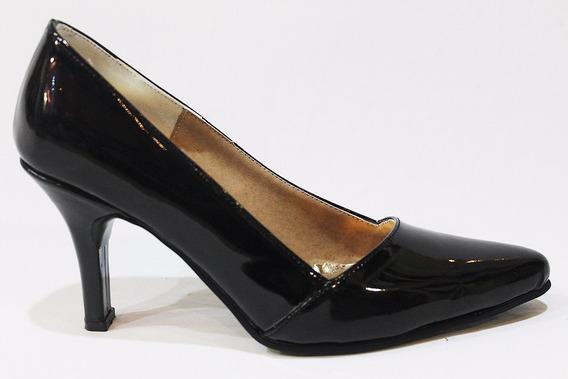 Zapato Stiletto Charol Mujer Art 9303. Marca Lorena Bs As