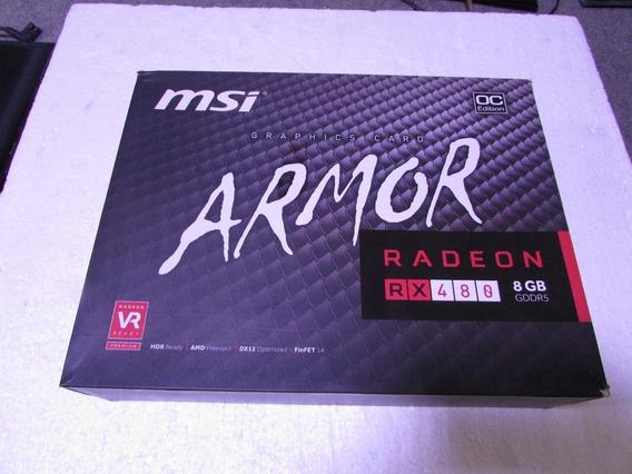 Caixa Vazia De Placa Video Msi Radeon Rx480 Armor