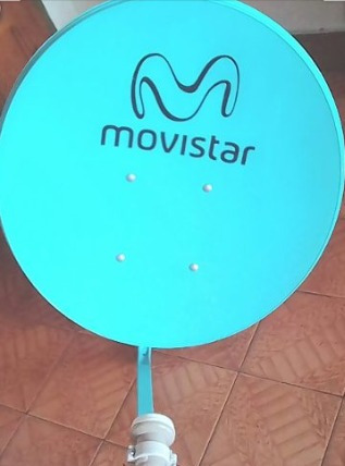 Antena Movistar Tv Combo Decodificador Control Tarjeta