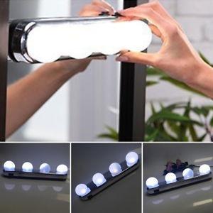 Studio Glow Luz De Espelho Camarim Led 4 Lampadas Portátil