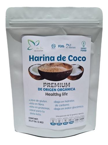 Imagen 1 de 2 de 1 Kg Harina De Coco Sin Gluten Sin Azúcar  Para Dieta Keto