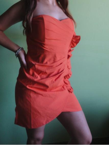 Vestido Elegante De Fiesta Naranja