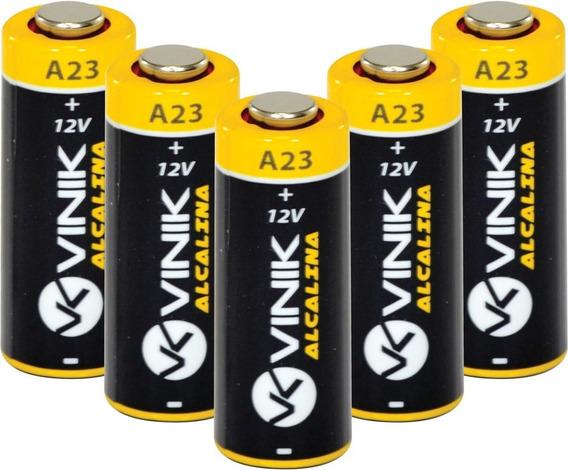 Bateria 12v Alcalina A23 - Cartela Com 5 Unidades - Vinik
