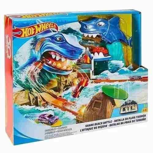 Pista Tubarão Hotwheels Batalha Na Praia Do Tubarão Mattel