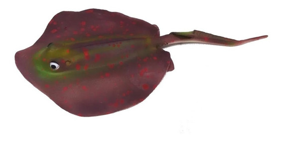 Enfeite Maxxi Arraia Marrom Ys-15112br Ornamento Decoração Para Aquários