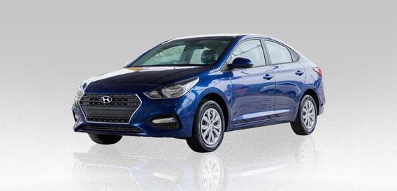 Hyundai Accent Gl 1.6l 2019 Azul 4 Puertas