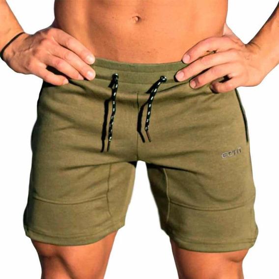 Gym Short Deportivo Casual Hombre Corte Slim Fit De Moda