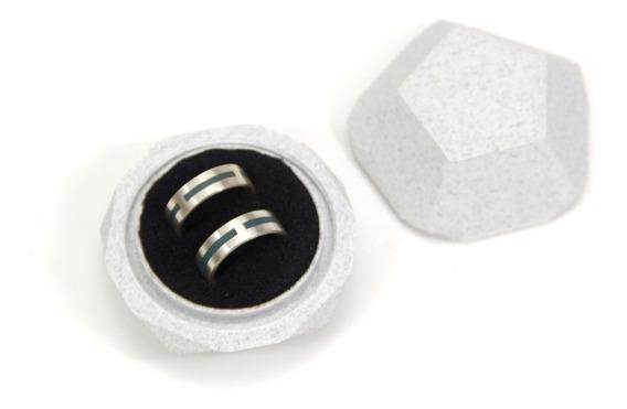 Caixinha Para Alianças Em Impressão 3d Com Formato Facetado E Rosca