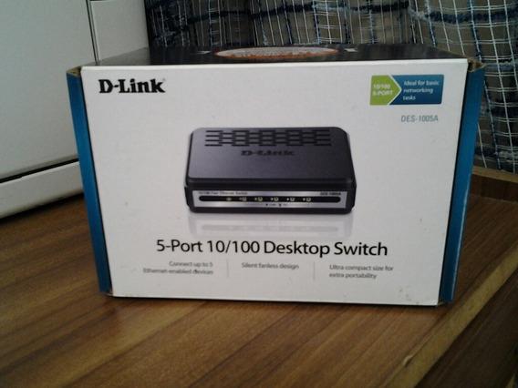 Switch Dlink Des-1005a 5 Puertos 10/100
