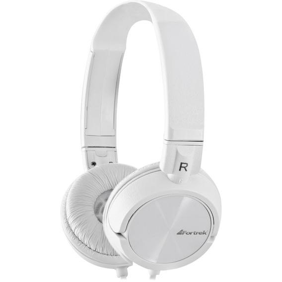 Fone De Ouvido Com Microfone Headphone Branco Fortrek Hpf501