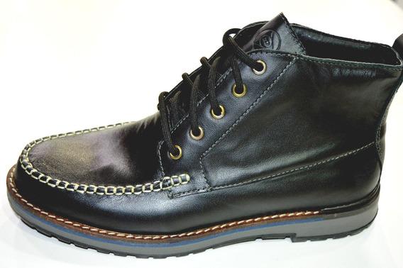 Botita Dunlop Cuero Genesis Hombre Original Negro