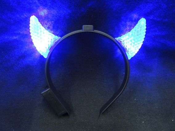 Vincha Diablo Con Luz X 10 Unidades