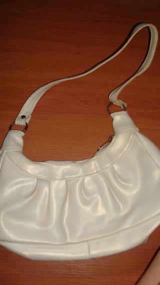 Cartera Brillante Perla Blanca Mediana Para Mujer