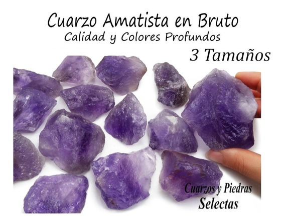 10 Piedras Cuarzo Amatista En Bruto De Gran Color 545g