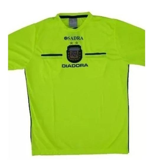 Camiseta Para Arbitro Diadora Manga Larga Original 2015 Afa