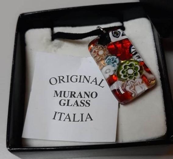 Cordão Pingente Murano Italiano