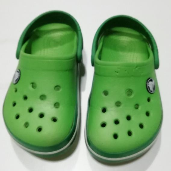 Crocs Verdes C8 9 Niño Con Detalles Oportunidad