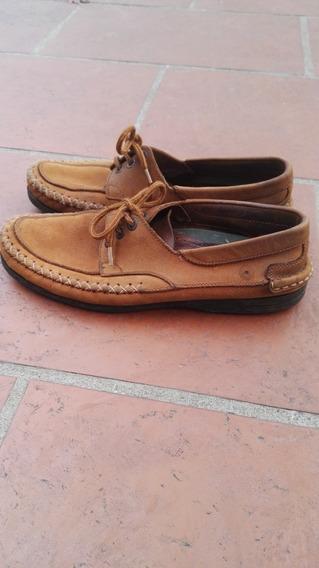 Zapatos Naúticos, Acordonados, Marrón Claro, Gamuza