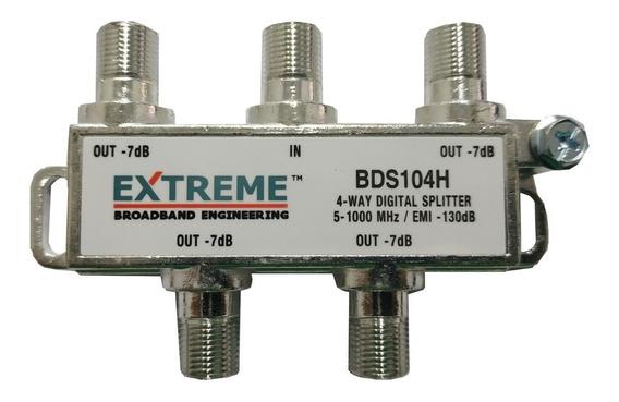 Splitter Coaxial De 1 A 4 Vias Divisor Tv Cable Splinter