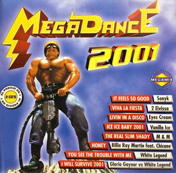 Cd Megadance 2001 2cds Vanilla Ice M And M Gloria Gaynor