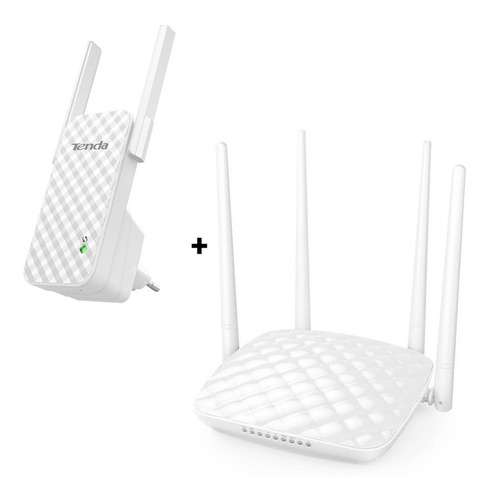 Router Wifi 4 Antenas + Extensor Repetidor Wifi  Worldmaster