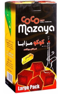 Carbón De Narguile Arguile Coco Mazaya Caja De 96 Piezas 1k
