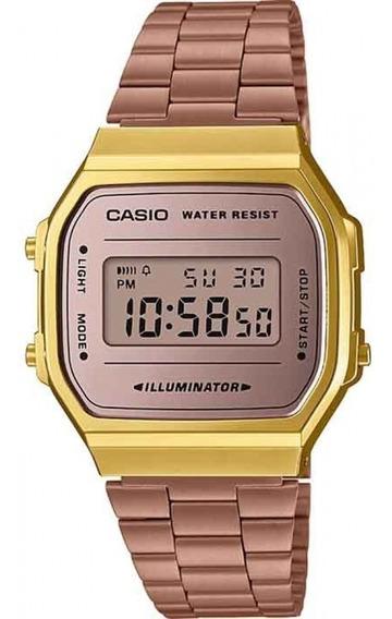 Relógio Casio Vintage A168wecm-5df + Nfe + Garantia Original