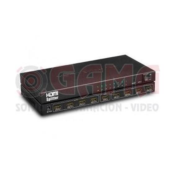 Splitter Repartidor 1 Jack Hdmi A 8 Jack Hdmi 1080p, Full Hd