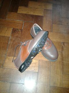 Zapatillas De Golf Cuero 34.