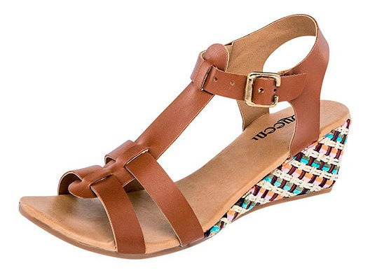 Zapato Casual Queen Mujer Camel 5cm D91467 Udt