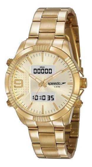 Relógio Speedo Feminino Dourado 15014lpevde1