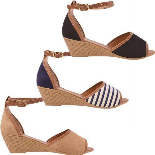 30a459ee1 Direto Da Fabrica Jogo Sapatos Femininos Sandalias - Calçados ...