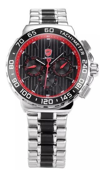 Relógio Shark Prata Sh382