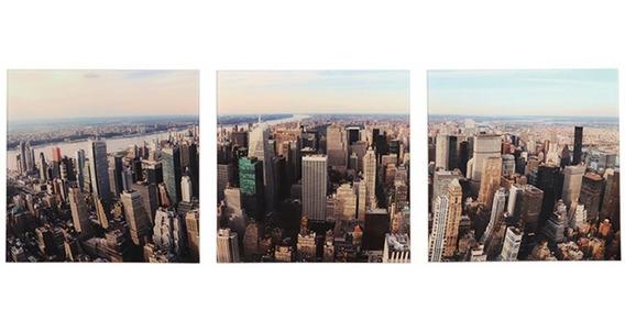 Conjunto 3 Quadros Manhattan