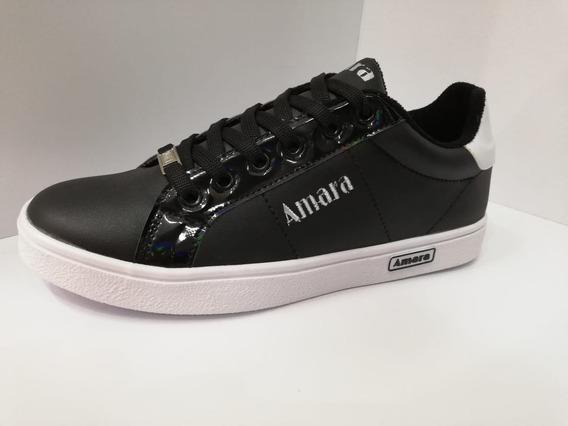 Zapatos / Zapatillas / Tenis Dama Color Negro Cordon