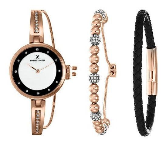 Relógio Analógico Daniel Klein Gift Set Dk12099-4 + Pulseira