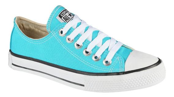 Tênis Converse All Star C T Cano Baixo Azul Turquesa