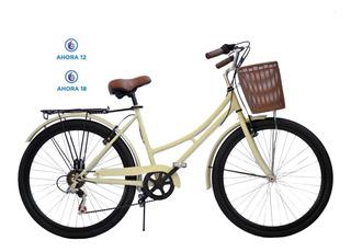 Bicicleta Vintage Dama Hot Sale Con Cambios Shimano