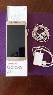Celular Samsung Galaxy J7 6 Usado Con Caja+auris+cargador