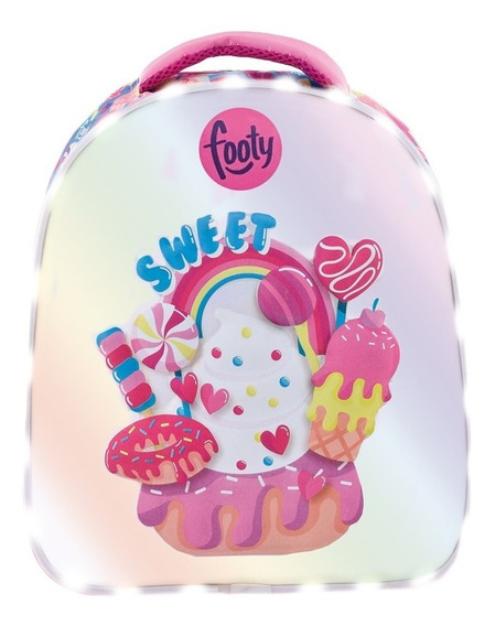 Mochila Footy Sweet Candy Con Luz Led 14