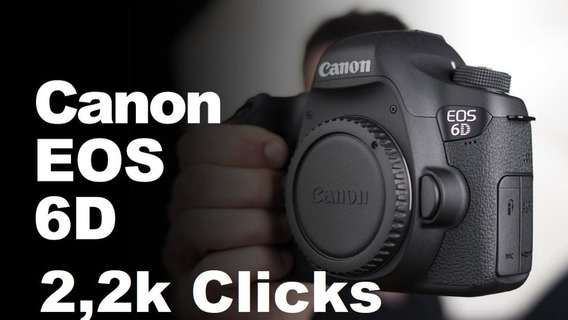 Canon Eos 6d Full Frame 20.2mp (gps/wifi) Só 2,263 Clicks