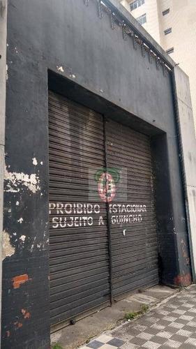 Loja Para Alugar, 100 M² Por R$ 8.000,00/ano - Vila Matias - Santos/sp - Lo0096