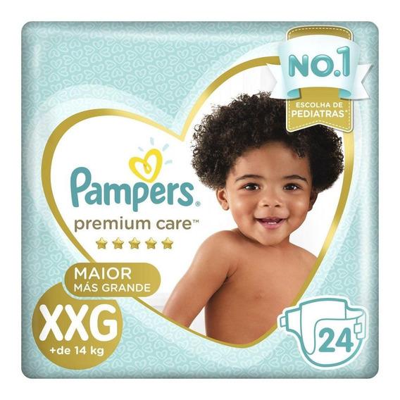 Fralda Pampers Premium Care Xxg Pacote 24 Unidades