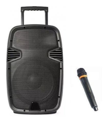 Caixa Som Amplificada Sumay Sm Cap09s Com Microfone 200w Nf