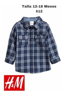 Camisa De Niño Marca H&m Talla 12-18meses