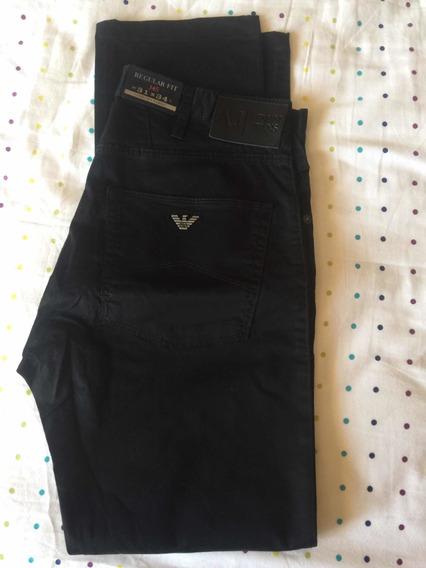 Pantalón Sport Armani Jeans J45 Talla 31 Regular Fit Negro